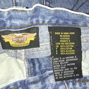 Harley-Davidson Jeans - VTG Harley Davidson Boot Leg Logo Jeans Size 6